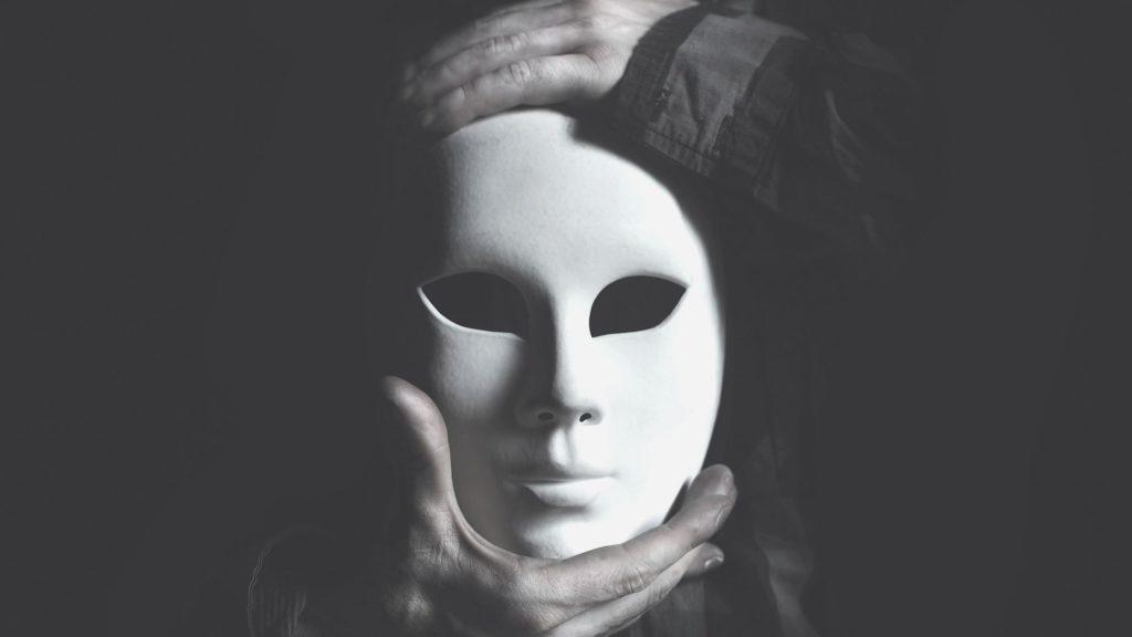 怪しい仮面の写真