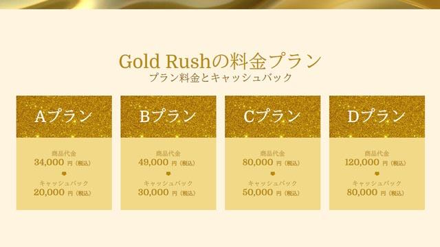 ゴールドラッシュ 料金プラン